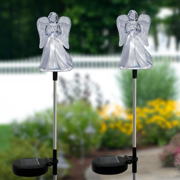 Solar Angel Garden Stake Garden And Pond Depot