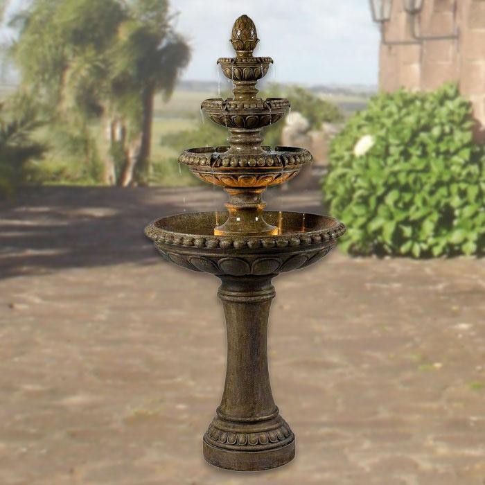 "66"" Tall Rialto Outdoor Floor Fountain in Tuscan Earth Finish"
