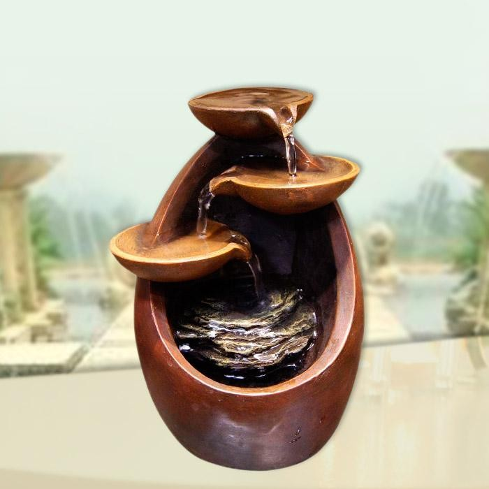 """8"""" Tall Tiered Tabletop Fountain"""