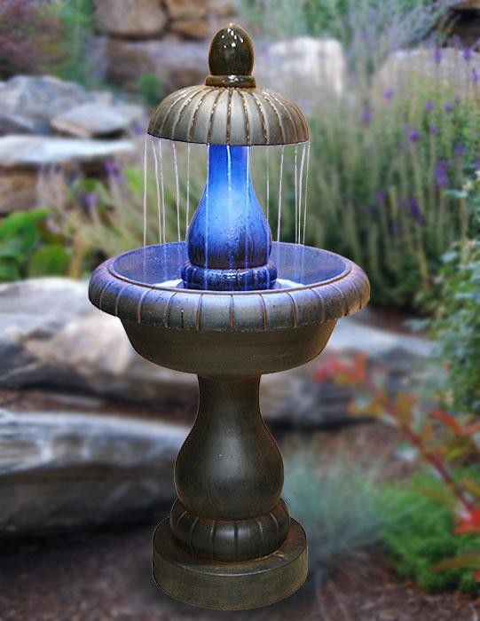 "54"" Tall Classic Tiered Fountain with LED Lights"