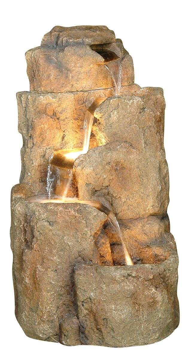 "35"" Tall Rock Fountain"