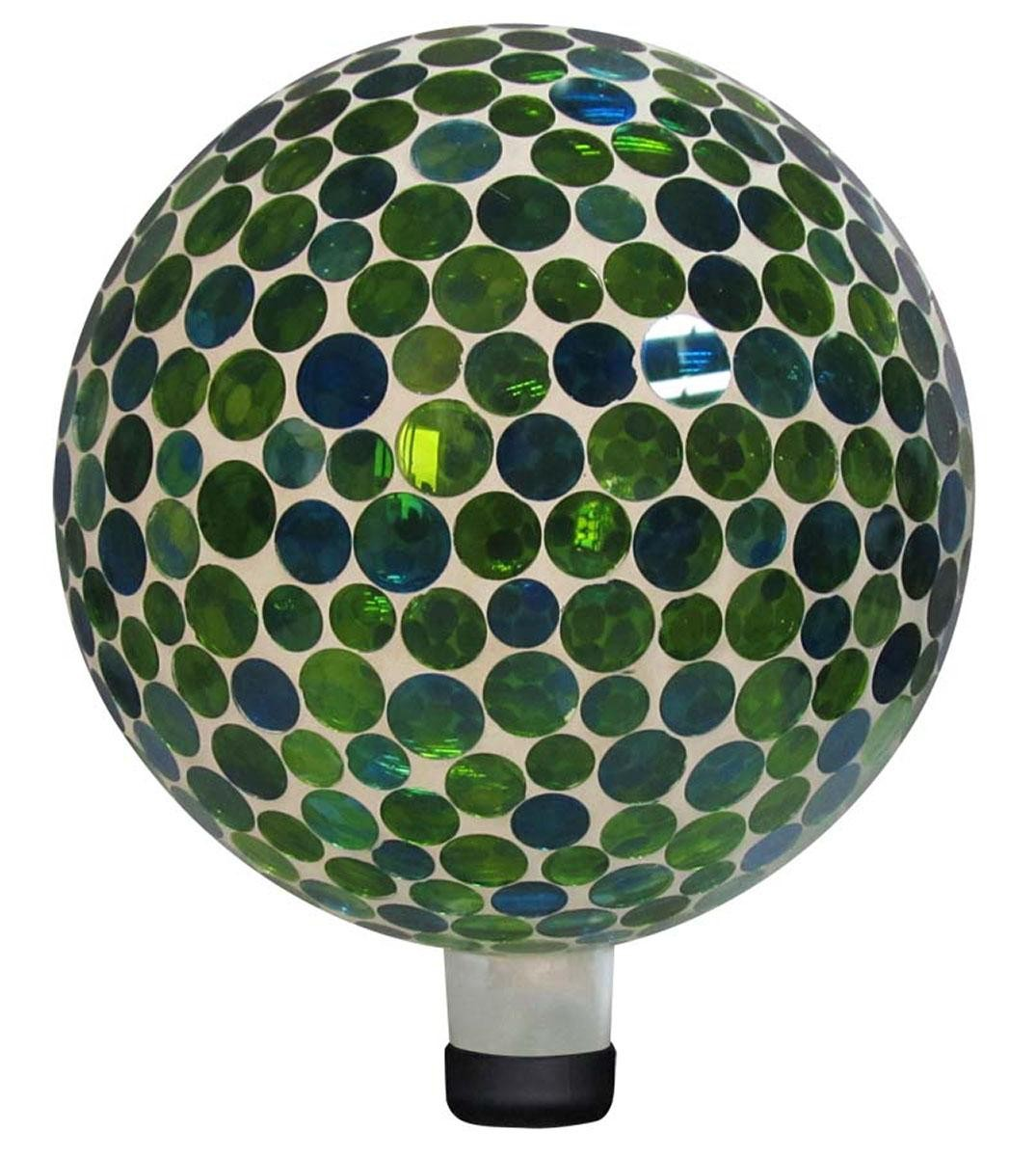 "Lawn Ball - 10"" Mosaic Gazing Ball - Blue"