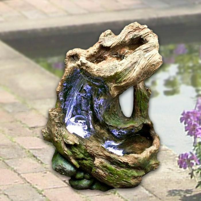 "Alpine 23"" Tall Curved Log Rainforest Fountain"