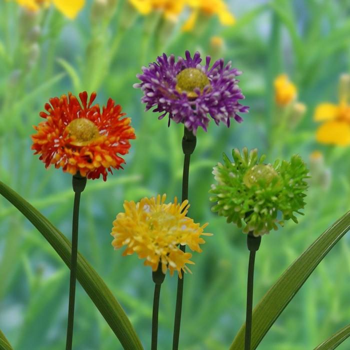 Solar Dhalia Garden Stake