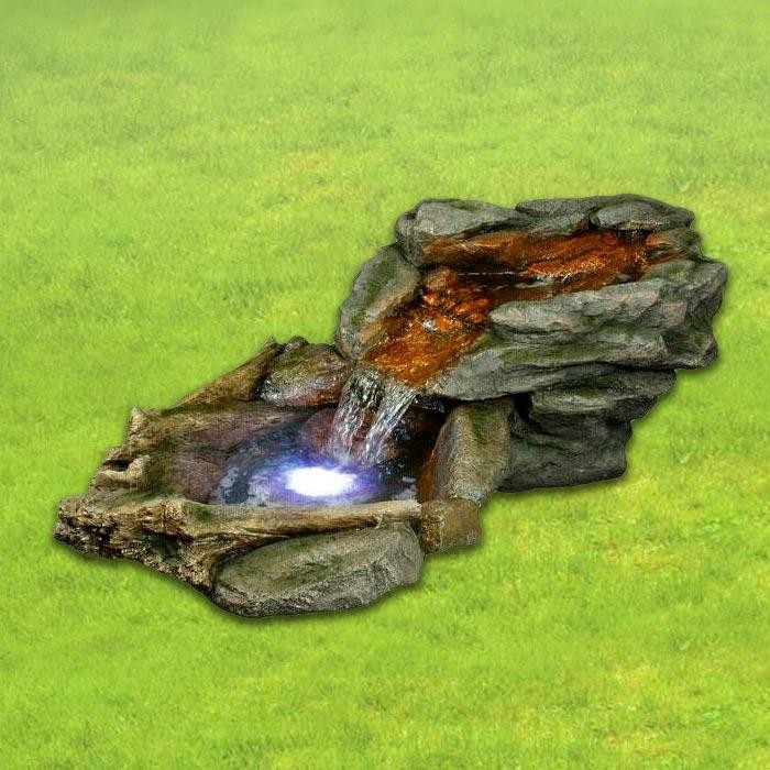 "70"" Long Rock Rainforest Fountain with LED Lights"