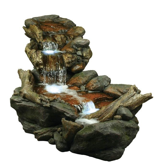 3 Tier Rainforest Fountain with LED Lights