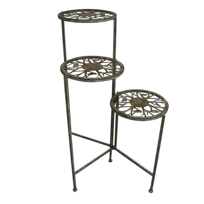 "31"" Tall Songbird Metal 3 Tier Plant Stand"