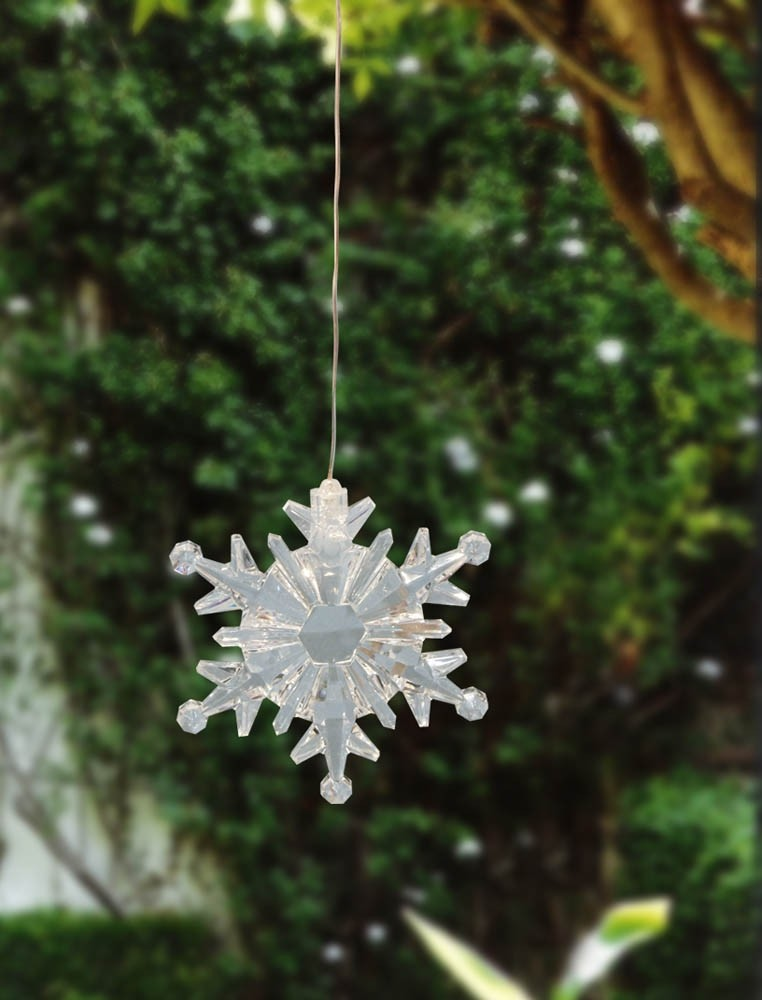 "4"" Tall Color Changing Hanging Snowflake"