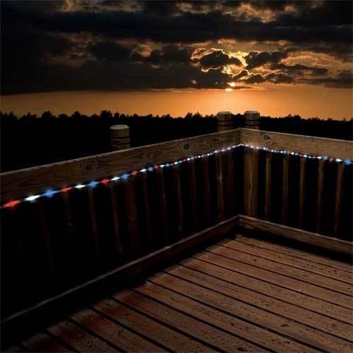 Flipo Red/White/Blue Solar Rope LED Lights