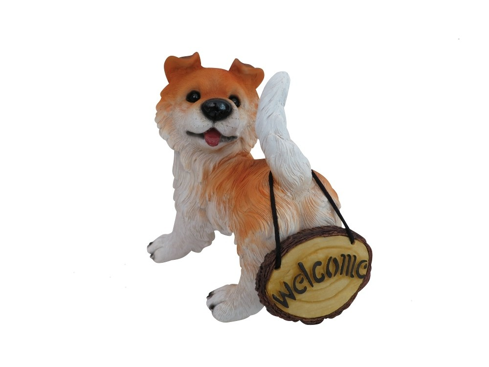 """Alpine 7"""" Welcome Dog Statues"""