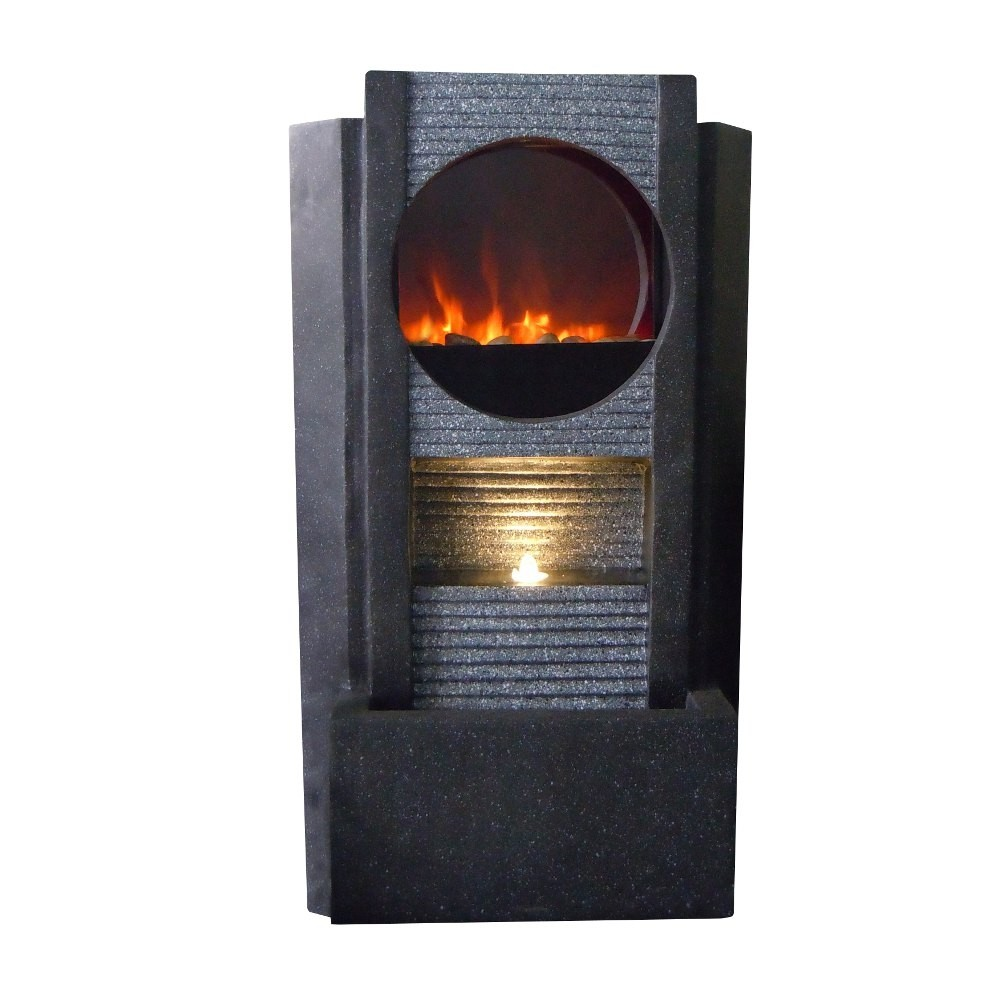 "37"" Tall Modern Fireplace LED Fountain"