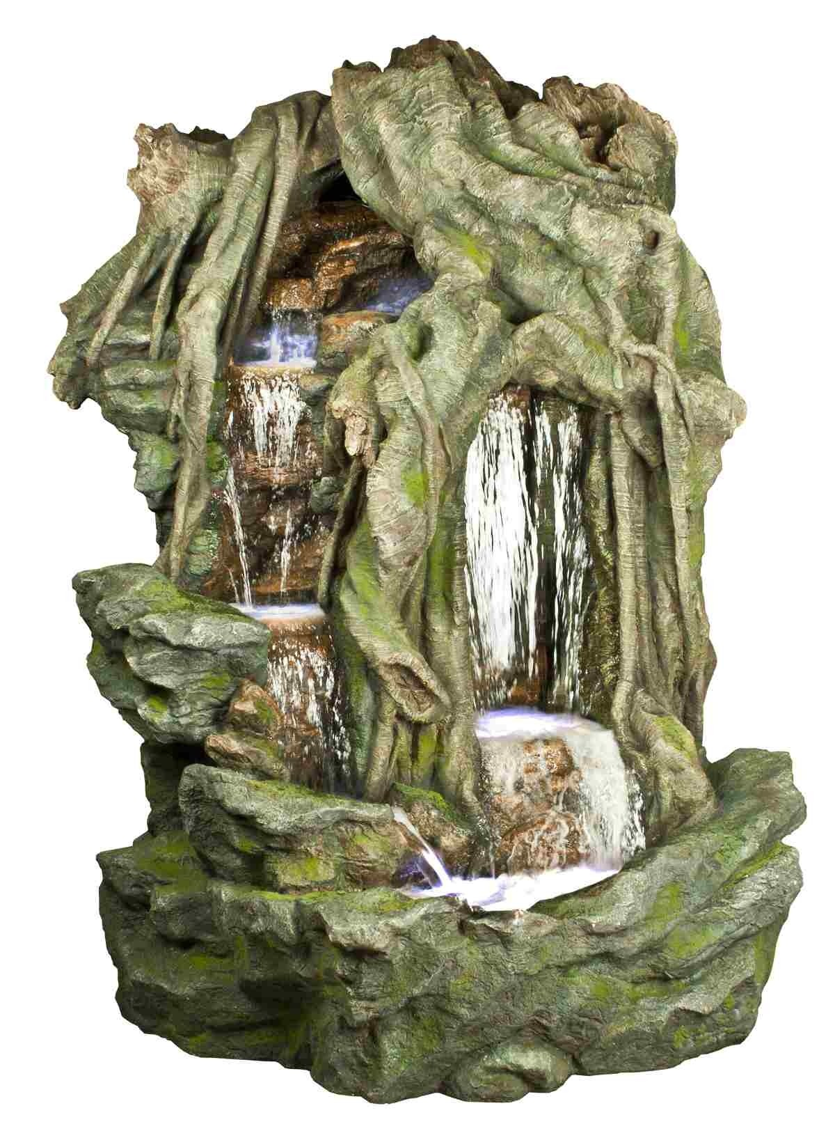 "Alpine 78'"" Tall Tree Branches  Double Waterfall Fountain"