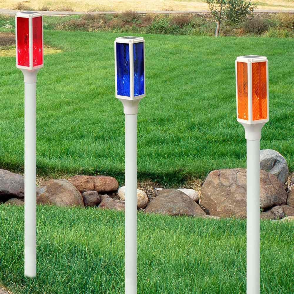 Solar LED Driveway Marker Stake Lights