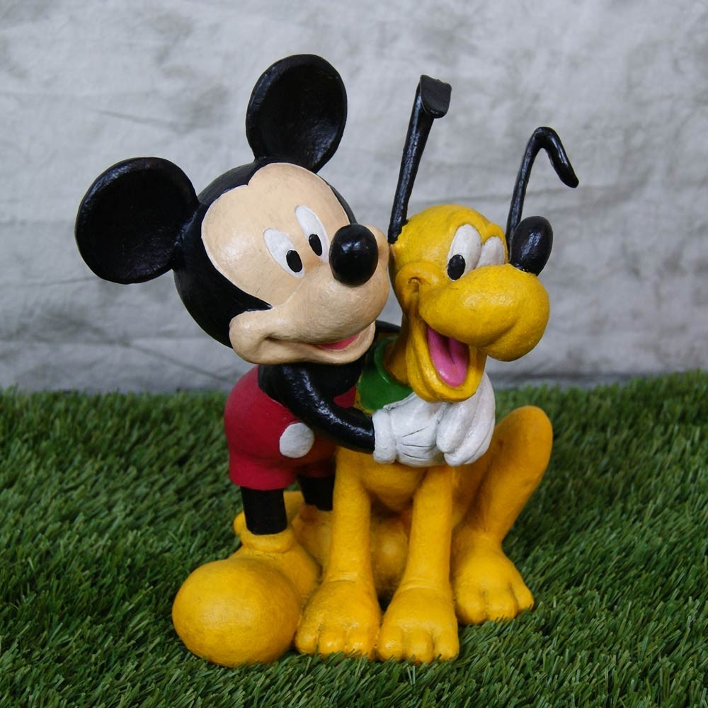 "12"" tall Disney's Mickey Mouse and Pluto Statue"