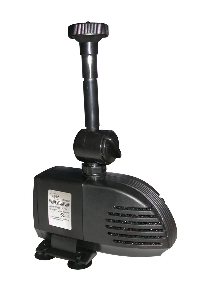 Surge 590GPH Pond Pump with Fountain Heads