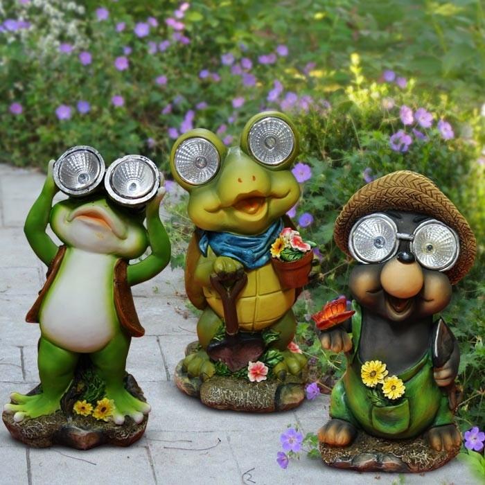 Alpine Garden Solar Eye Statues