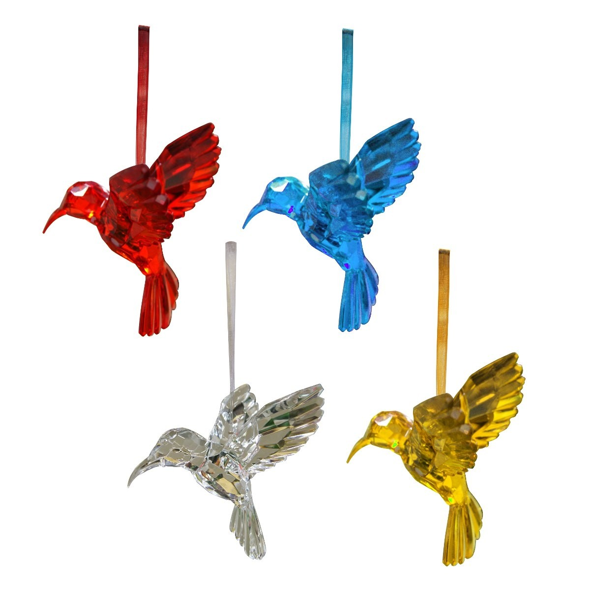 Acrylic hanging hummingbird ornament garden and pond depot for Hanging garden ornaments