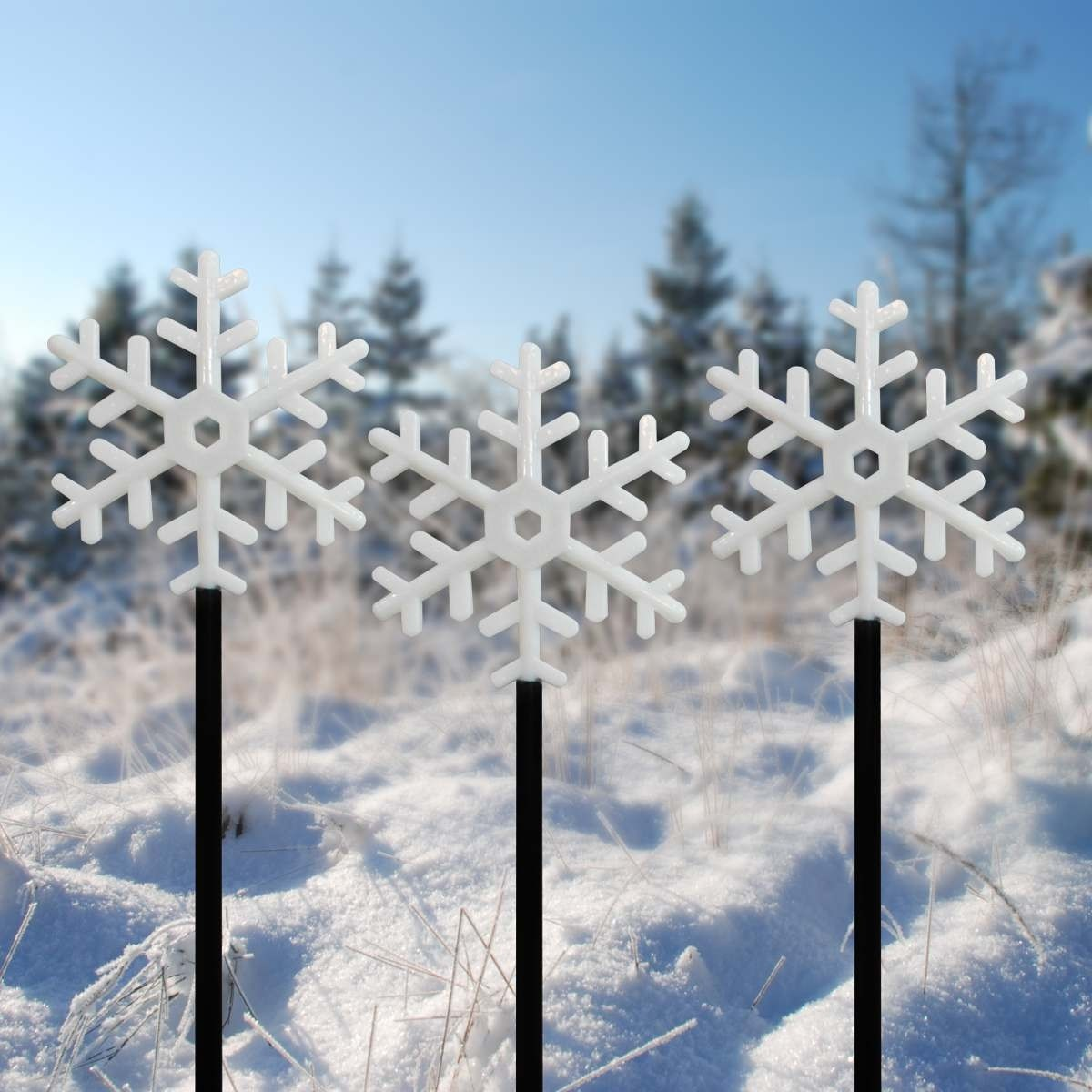Alpine Snowflake Battery Operated Garden Stakes