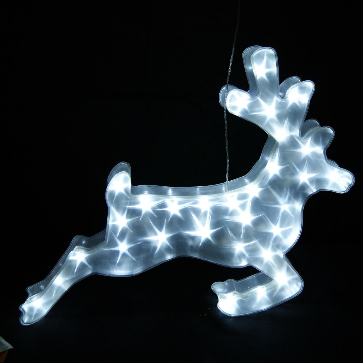"14"" Tall LED Hanging Reindeer with Timer"