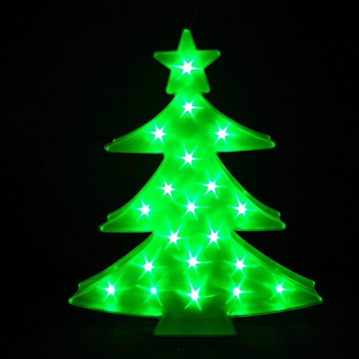 "19"" Tall LED Hanging Christmas Tree with Timer"
