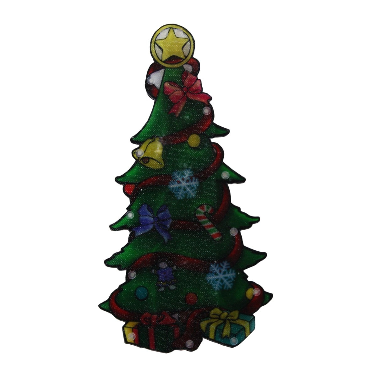 "10"" Tall Christmas Tree Window LED Decoration with Timer"