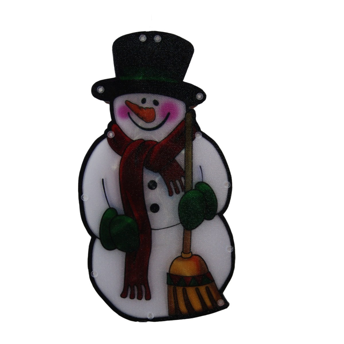 "10"" Tall Snowman Window LED Decoration with Timer"