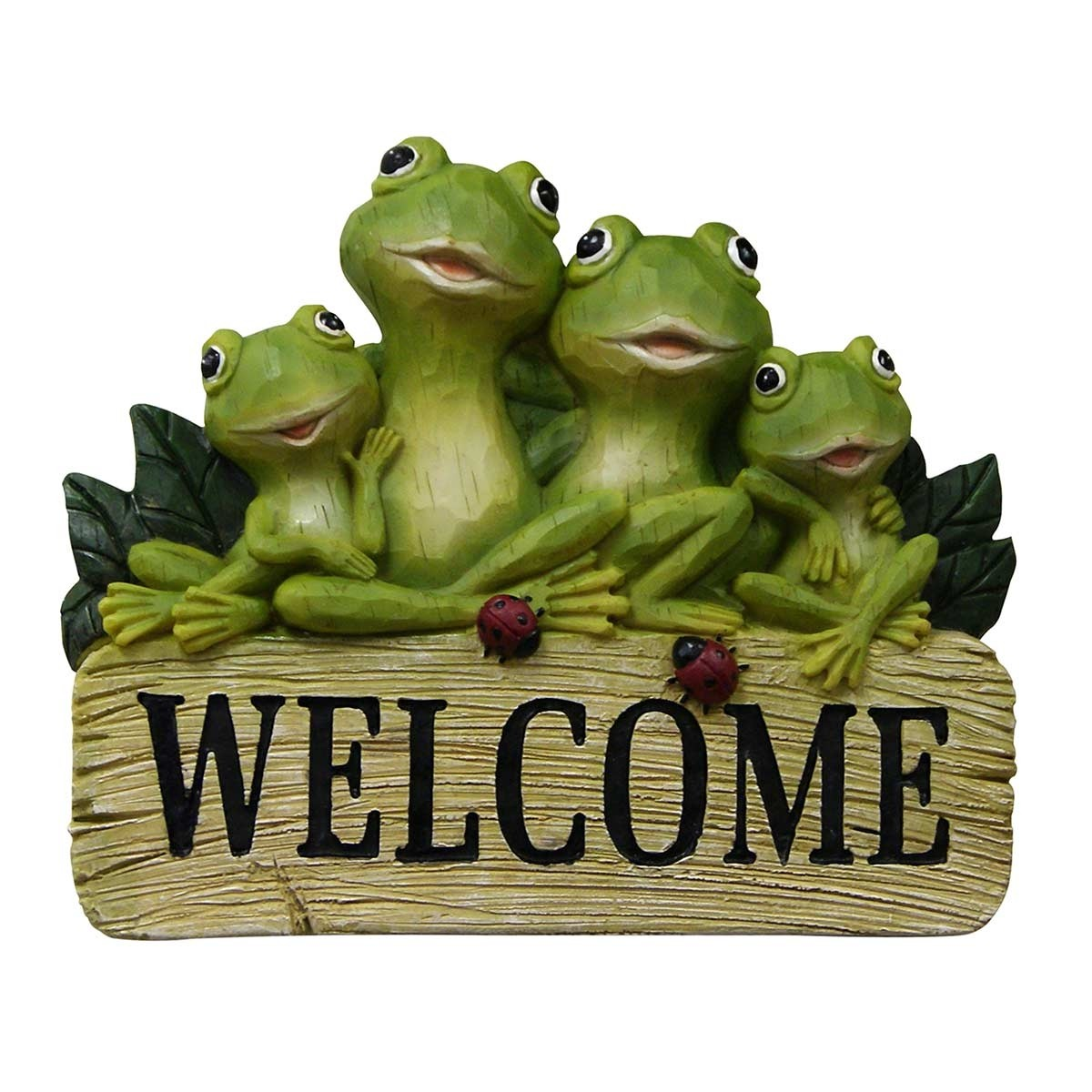 Frog Family with Welcome Sign Hanging Decor