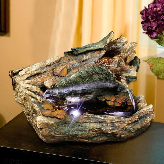 "22"" Long Log Tabletop Fountain"