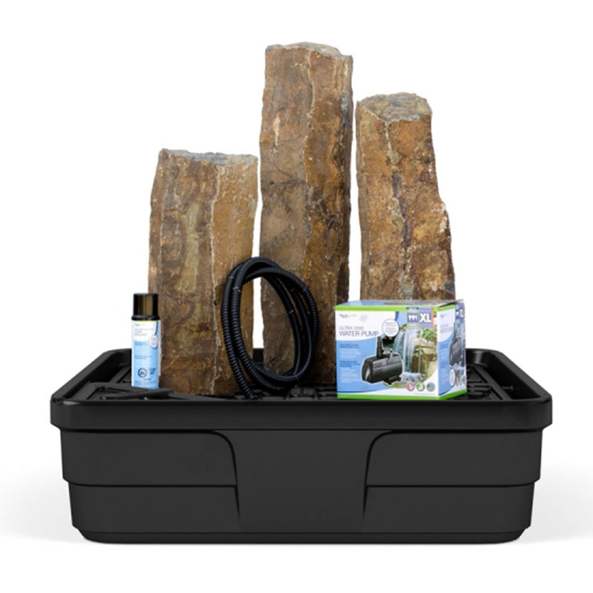 Mongolian Basalt Three Column Fountain Kit