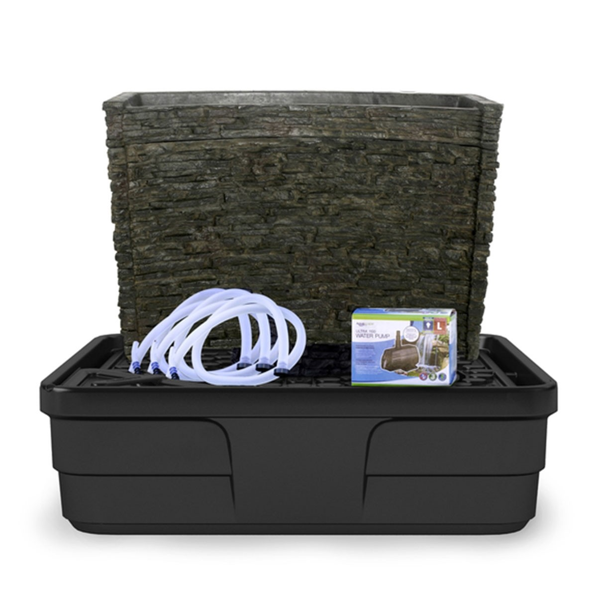 "19"" Stacked Slate Spillway Fountain Kit"