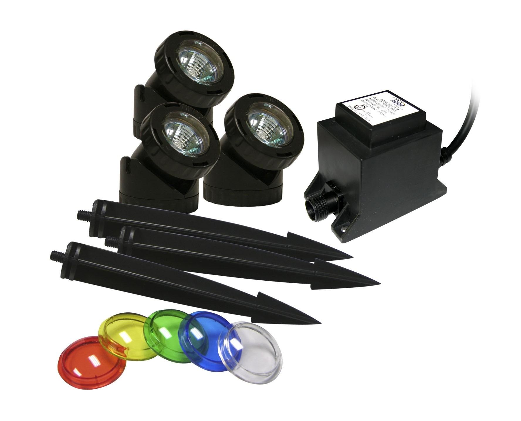 Set of 3 Powerbeam 10W Lights w/ Transformer