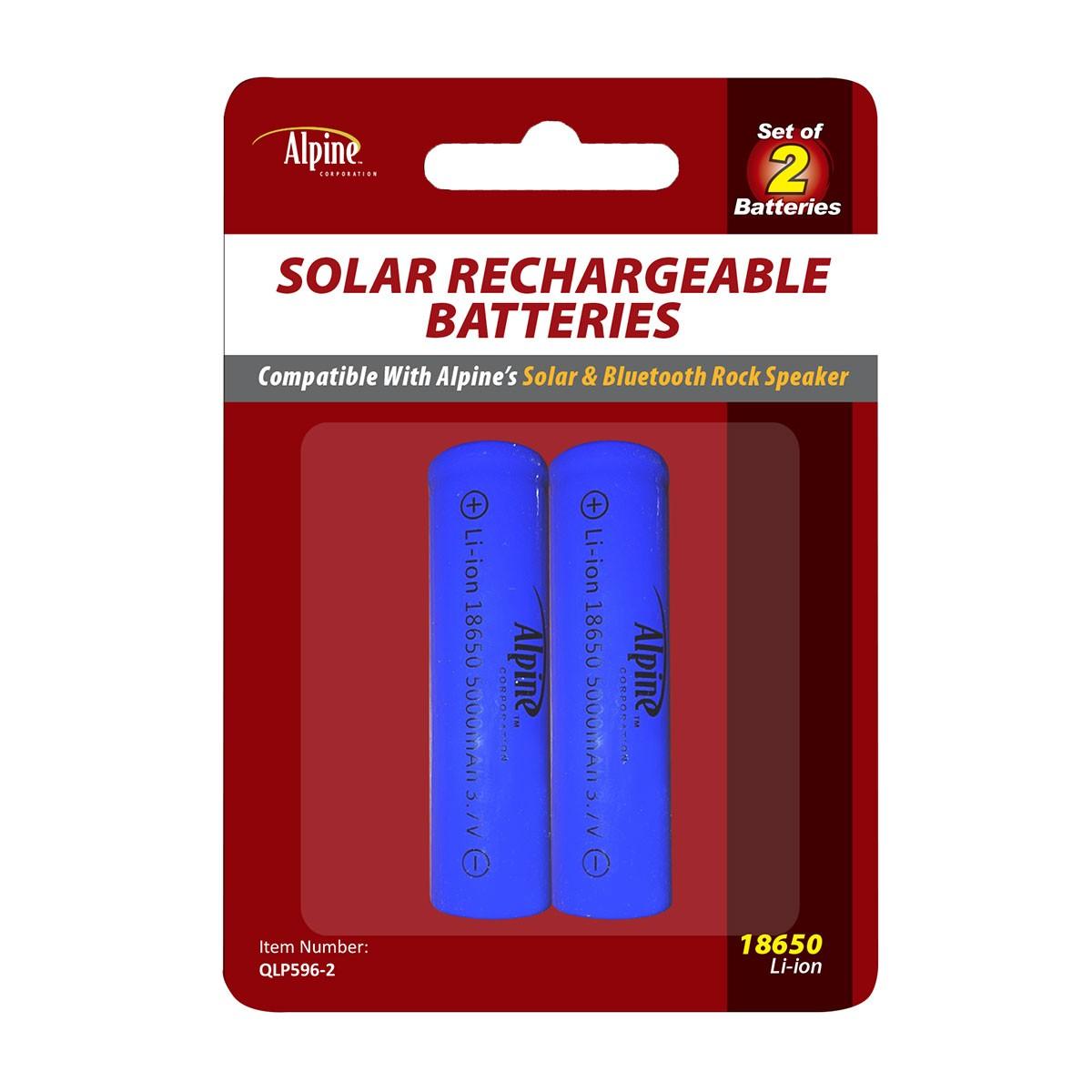 Solar Rechargeable 18650 Batteries