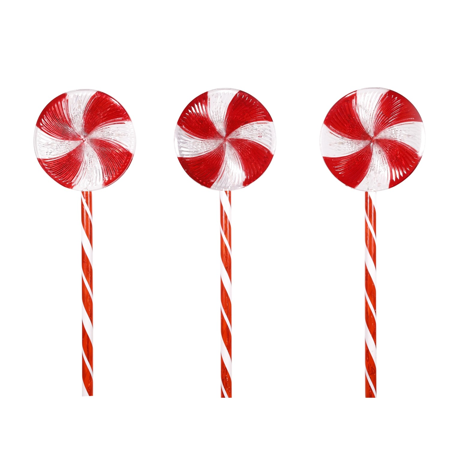 """28"""" Candy Cane Pathway Red and White LED Lights"""