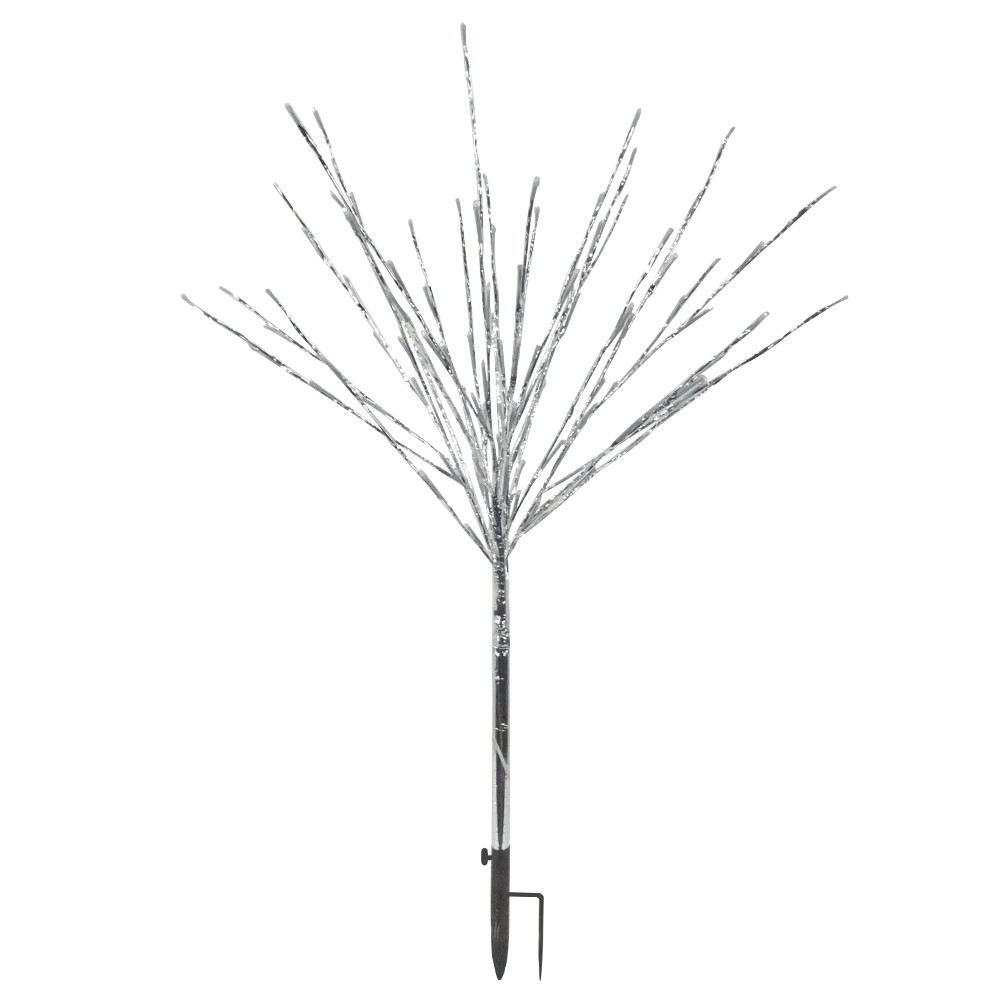 """39"""" Foil Tree Branch Lighted Decor Stake with Multi-Colored LEDs"""