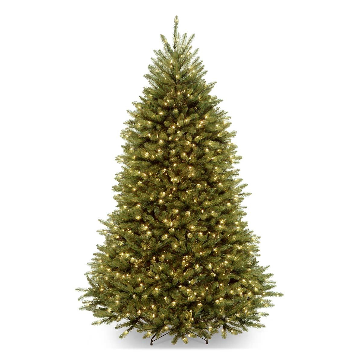 7 1/2' Dunhill Fir Hinged Tree with 750 Clear lights