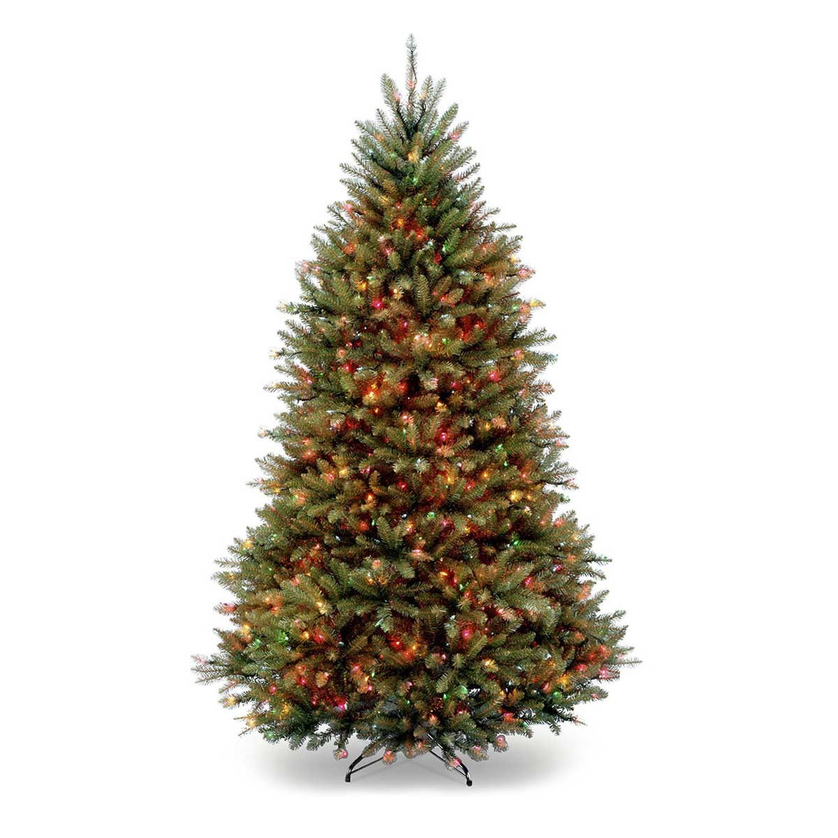7 1/2' Dunhill Fir Hinged Tree w/ 750 multi lights