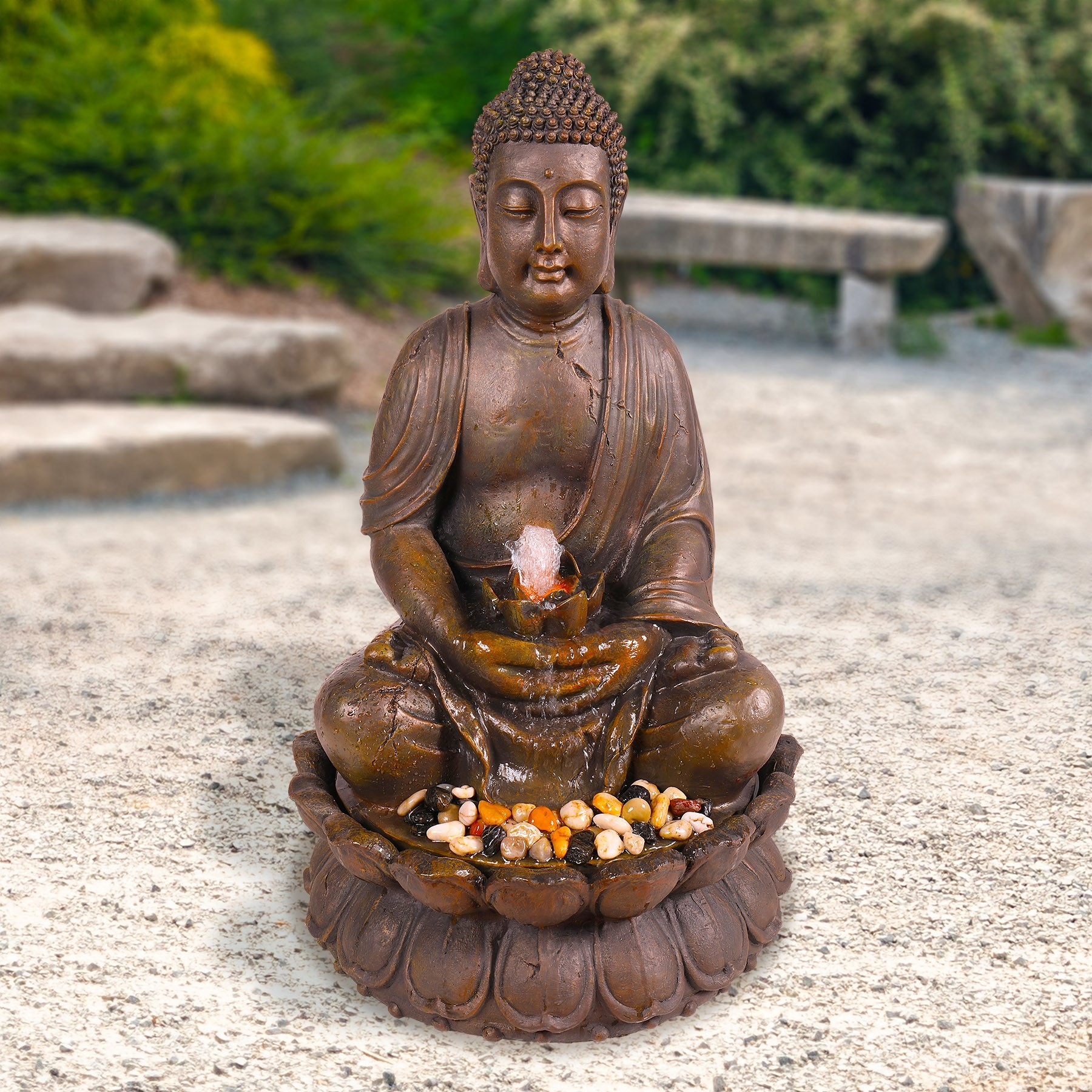 "33"" Tall Buddha Water Feature"