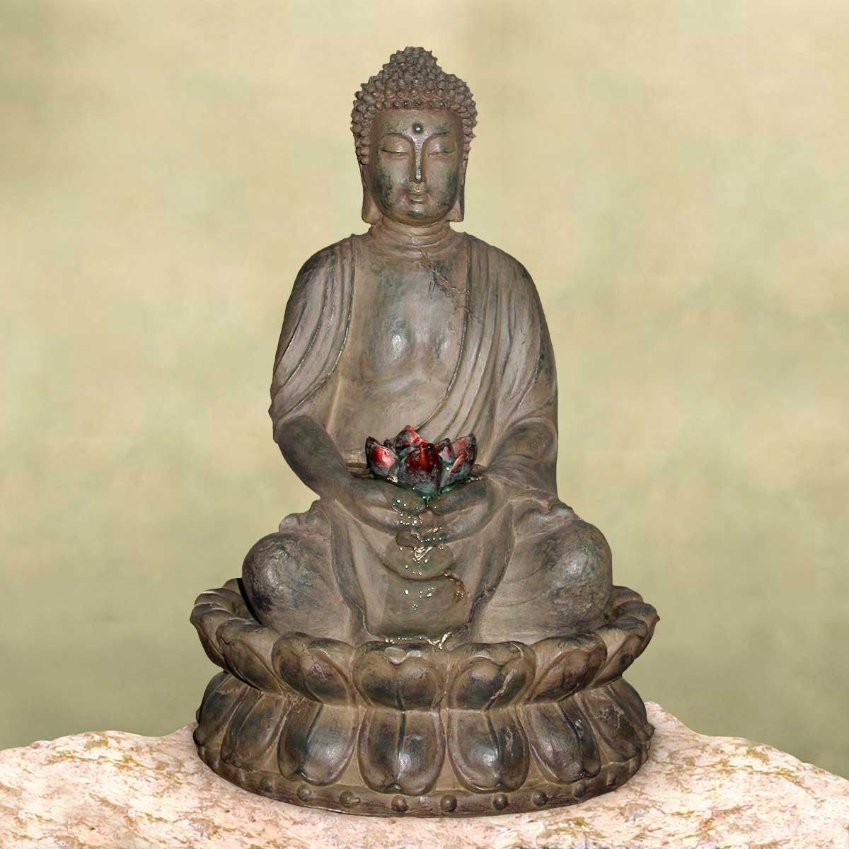 "19"" Tall Buddha Tabletop Fountain"