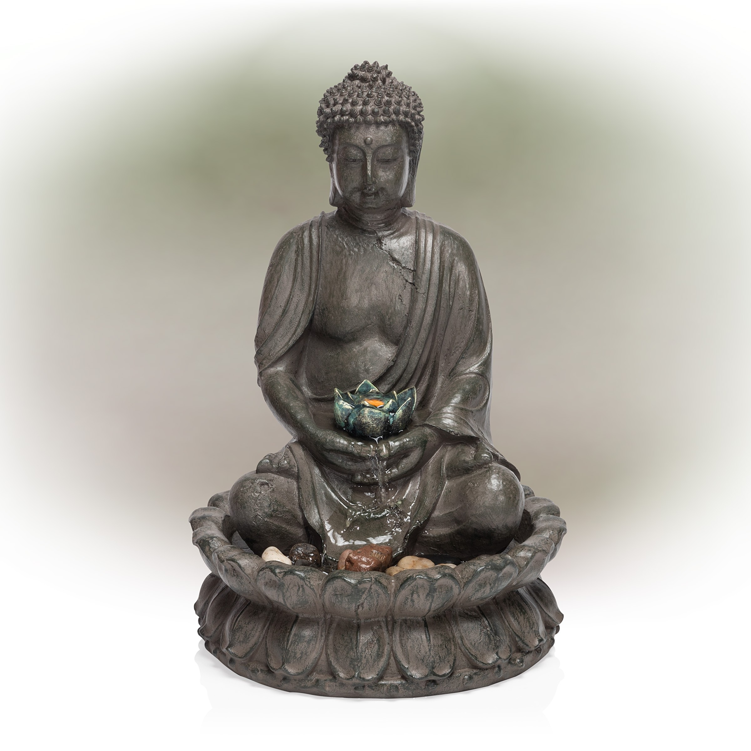 19 Tall Buddha Tabletop Fountain Garden And Pond Depot