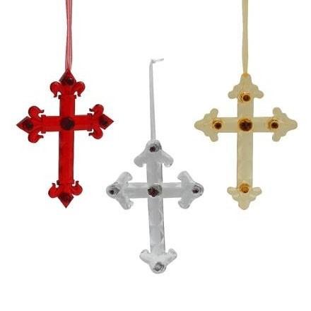 "6"" Cross Hanging Ornament"