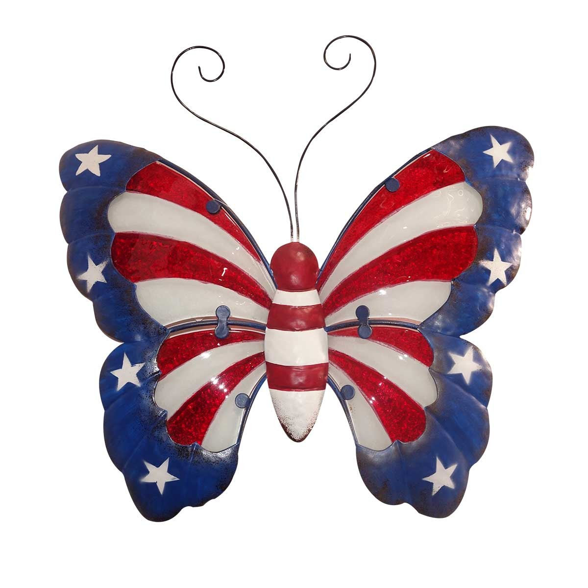 "14"" Americana Butterfly Wall Decor"
