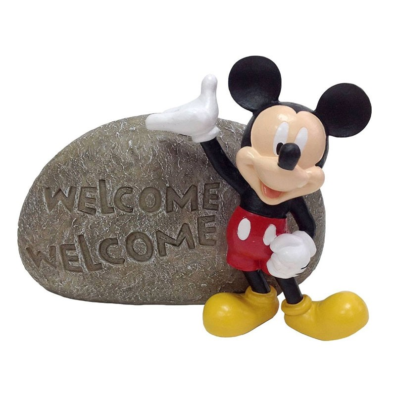 "6"" tall Disney's Mickey Mouse Welcome Stone"