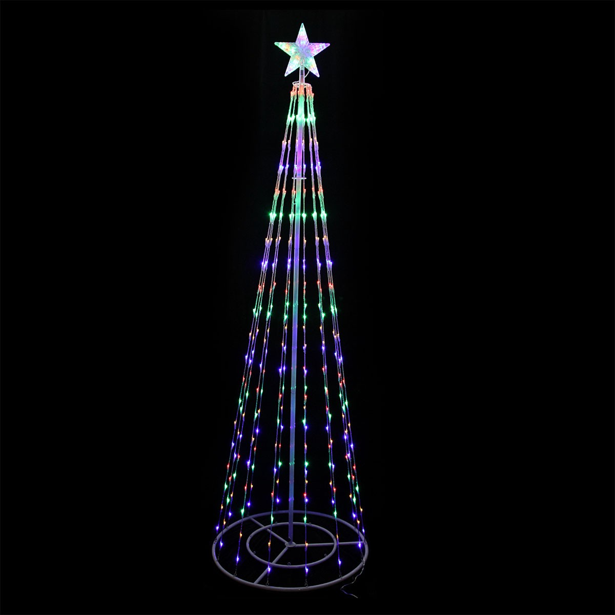 "83"" Tall Christmas Tree Tower with Changing LED Lights"