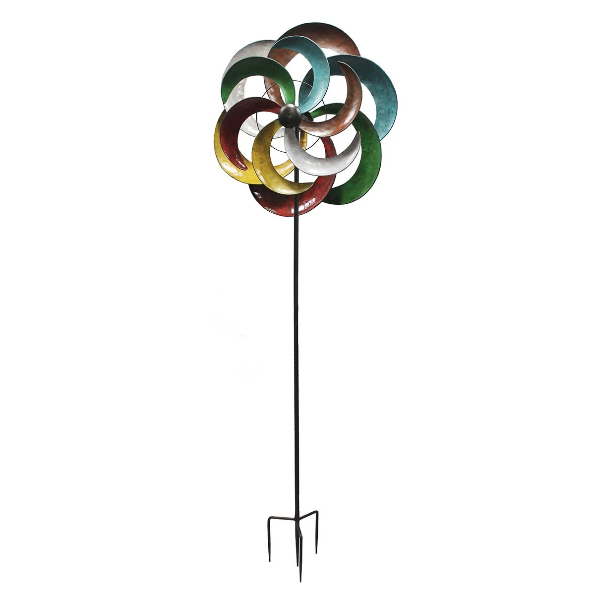 "80"" Metal Multi-Color Windmill Stake"
