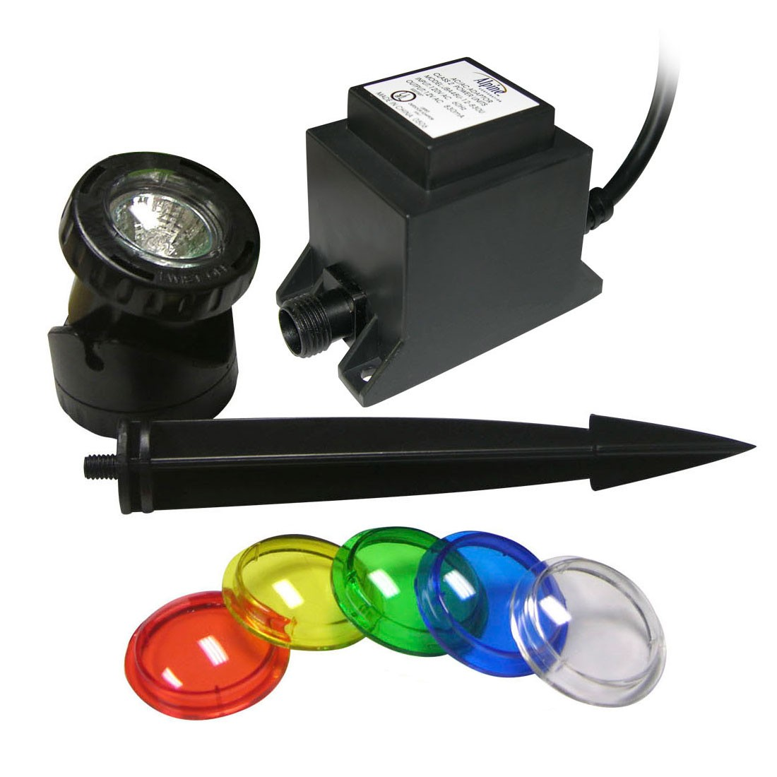 Power Beam 20W Halogen Pond & Garden Lights w/ Stakes & Lenses