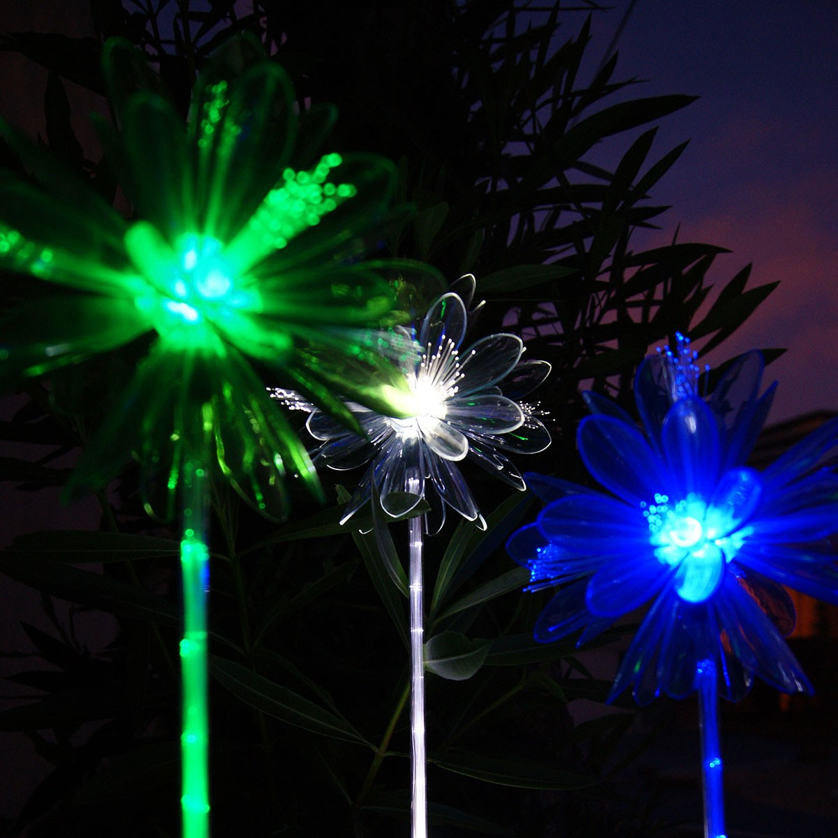 Solar 3D Flower LED Garden Lighted Stake