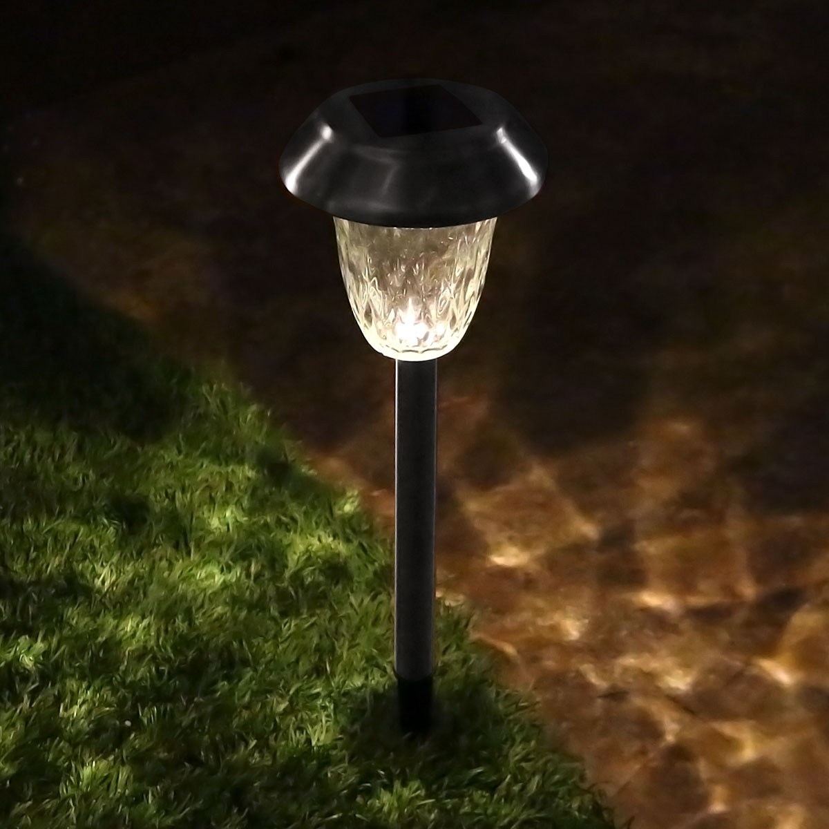 Solar Silver LED pathway Light