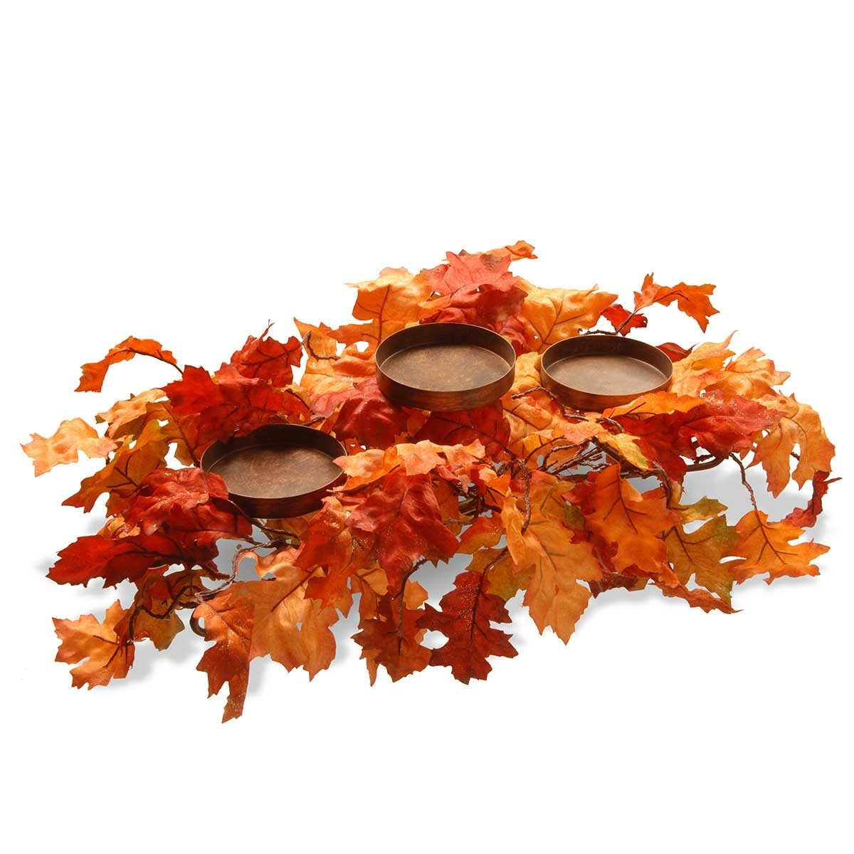 """22"""" Candle Holder with Maple Leaves"""