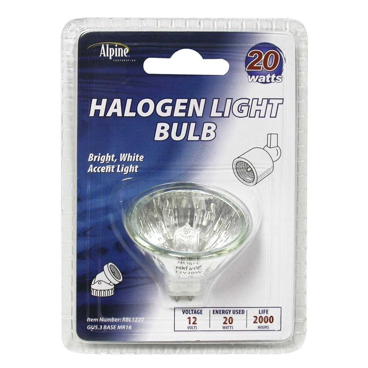 20 Watt 12 Volt MR16 Halogen Replacement Bulb