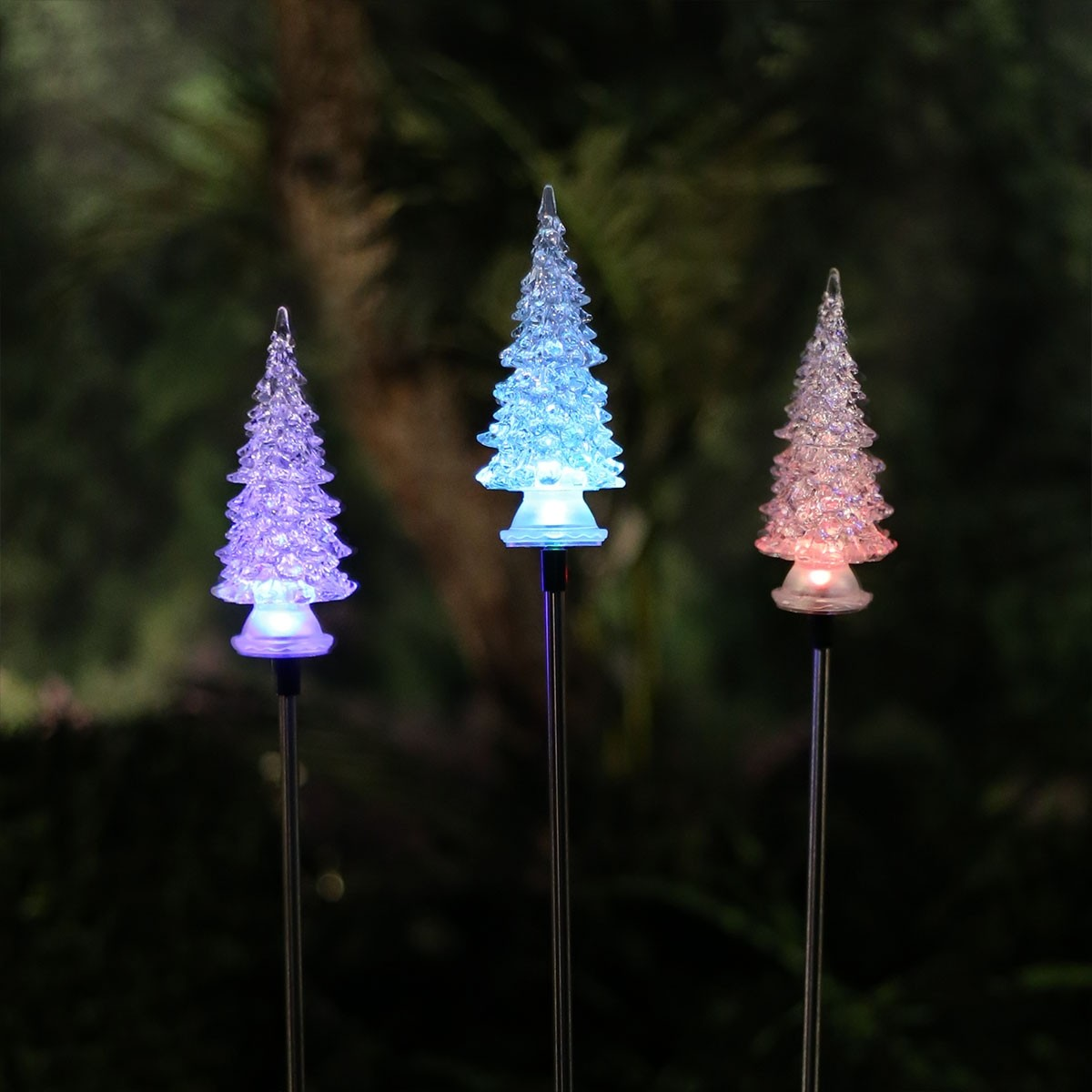 34 color changing solar christmas tree garden stake - Solar Christmas Tree